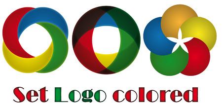 Set logo coloré Logo
