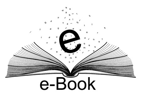 auteur: e-book Stock Illustratie