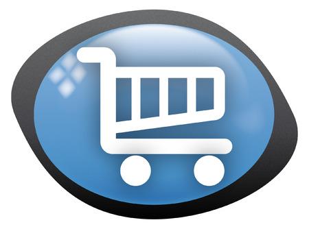 retail shop: carro de icono oval compras 2