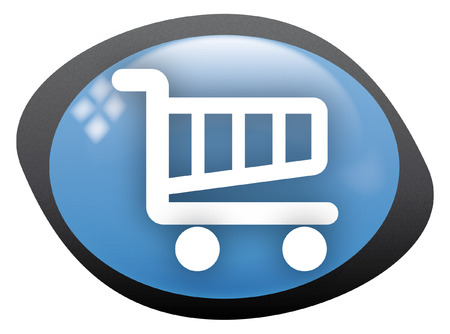 download music: icon oval cart shopping 2 Illustration