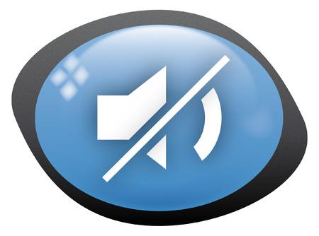 mute: icon oval mute