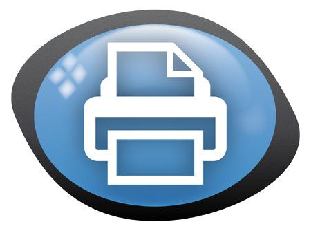 icon oval print Stock Vector - 8304797