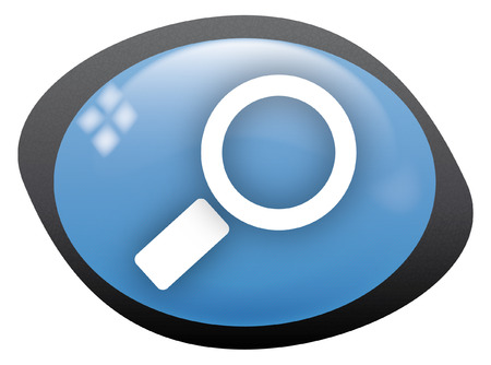icon oval search Stock Vector - 8304828