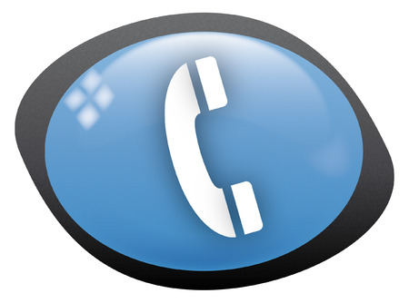 icon oval telephone Stock Vector - 8304827