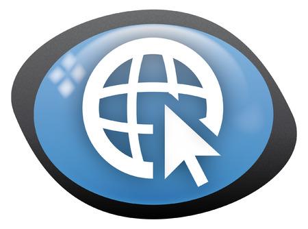 icon oval web Stock Vector - 8304806