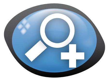 zoom in: zoom oval de icono en