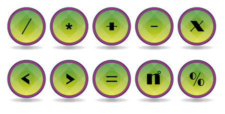 set green siymbol icons Vector