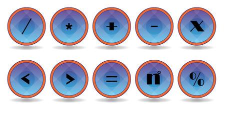 set blue symbol icons Vector