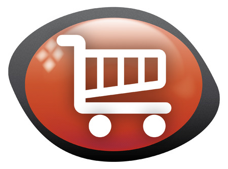 cart icon oval red