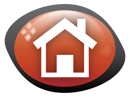home icon oval red Stock Vector - 8404453