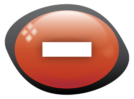 less: less icon oval red Illustration