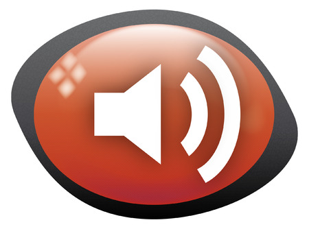 high volume: volume high icon oval red