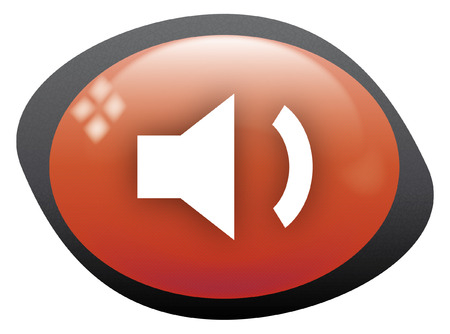 high volume: volume low icon oval red
