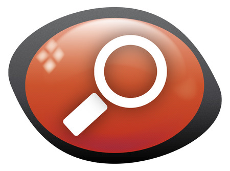 search icon oval red Stock Vector - 8404482