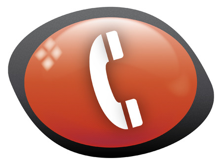 telephone icon oval red Vector