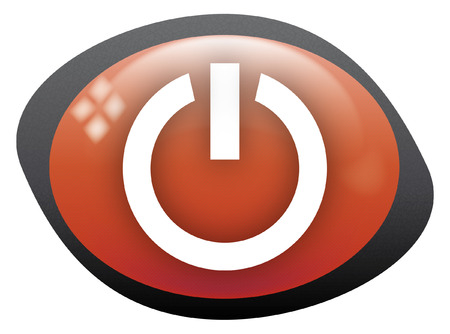 on off icon oval red Vector