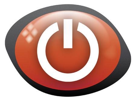 dentro fuera: por fuera rojo oval de icono