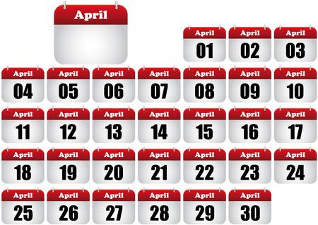 april  calendar illustration. icon for web  Stock Vector - 8476886