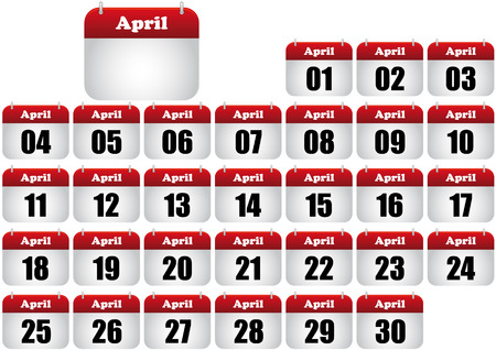 april  calendar illustration. icon for web Stock Vector - 8476886