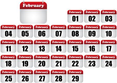february calendar illustration. icon for web  Stock Vector - 8476888