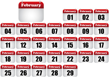 february calendar illustration. icon for web Stock Vector - 8476888