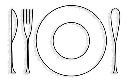 platería y plato de logotipo