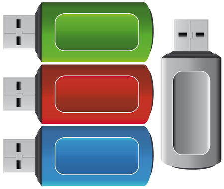 flash drive: USB pen icons