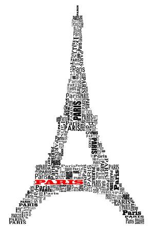 抽象的な言葉パリ トゥール エッフェル  イラスト・ベクター素材