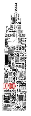abstracte big ben met woorden London
