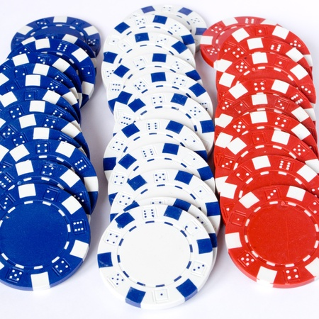 three line chips colored blue white and red Stock Photo - 8548123