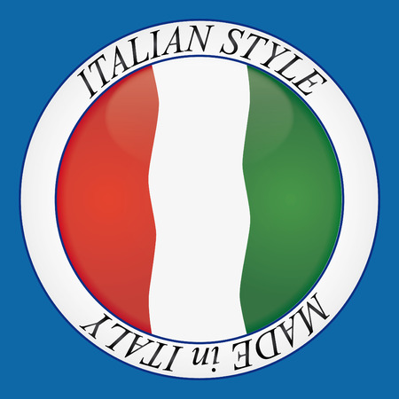 icon of the italian flag and made in italy  Vector
