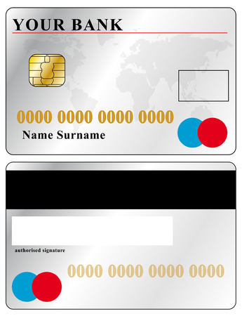 debit: credit card vector, text adjustable Illustration