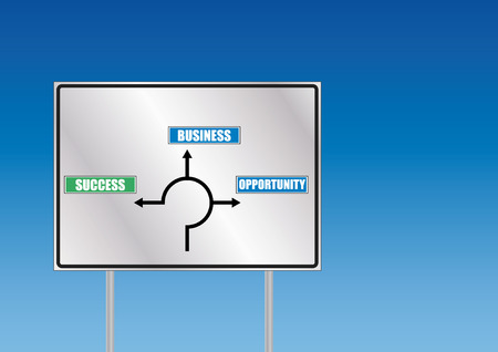 business signalroad with blue sky Vector