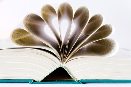 book with page a shape of heart Stock Photo - 8953480