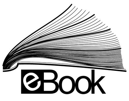 electronic book: ebook half icon