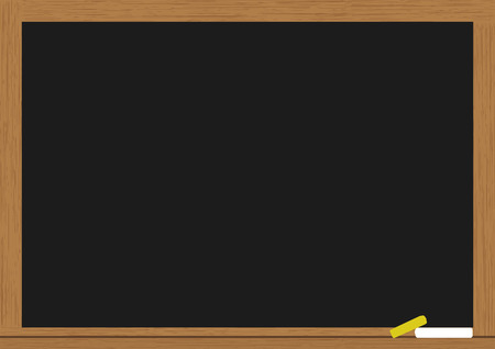 classroom chalkboard: empty chalkboard for your text Illustration