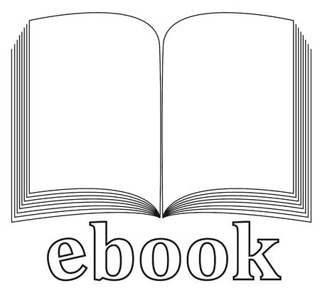 ebook icon  Stock Vector - 9017533