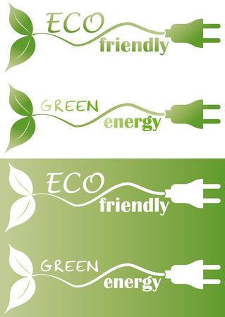 plugin: eco friendly with plug and leaf