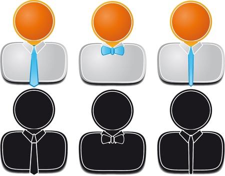 business man with necktie Vector