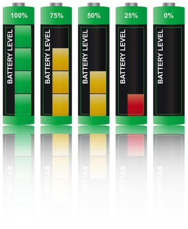 illustration of set battery level Vector