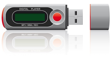 microdrive: illustration of mp3 player for digital music
