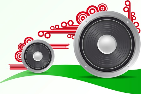 illustration of loudspeaker with arrow and circle Vector