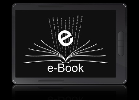 handheld device: illustration of ebook reader device