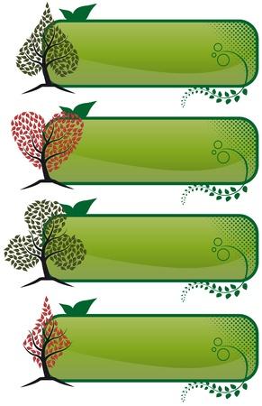illustration of poker tree banner Stock Vector - 10242742
