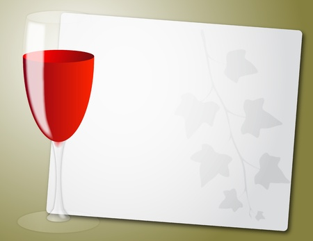 illustration of sheet with red wine glass Stock Vector - 10261526