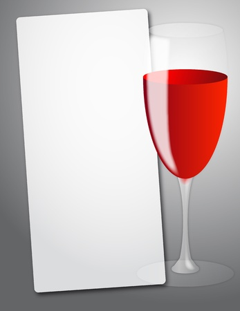 illustration of sheet with red wine glass Vector