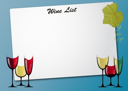 illustration of sheet with wine glass Stock Vector - 10261523