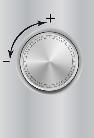 less: illustration of knob with plus and less