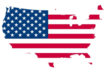 state election: illustration of united of america flag
