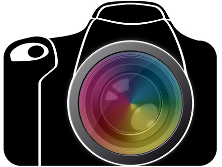 reflexe: illustration de reflex avec lentille de spectre Illustration